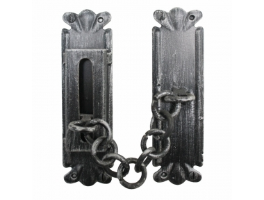 2158 Wrought Iron Handmade Security Chain for Doors Lorenz Ferart