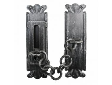 2158 Wrought Iron Handmade Security Chain for Doors Lorenz Ferart