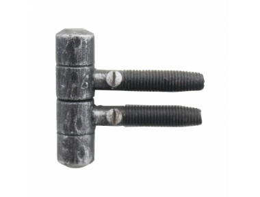 2168 Screw Hinge Handmade in Wrought Iron for Doors and Windows Lorenz Ferart