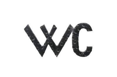 2205 Signal WC Shape Wrought Iron for Bathroom Lorenz Ferart