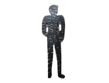 2206 Signal Man Shape Wrought Iron for WC Male Bathroom Lorenz Ferart