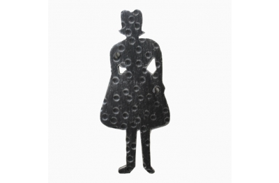 2207 Signal Woman Shape Wrought Iron for WC Female Bathroom Lorenz Ferart