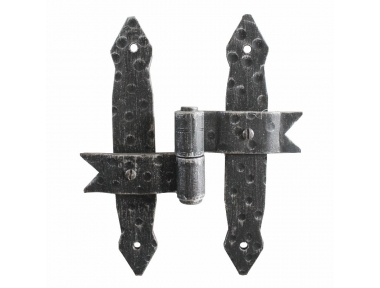 2457 Double Central Hinge Wrought Iron for Doors and Windows Lorenz Ferart