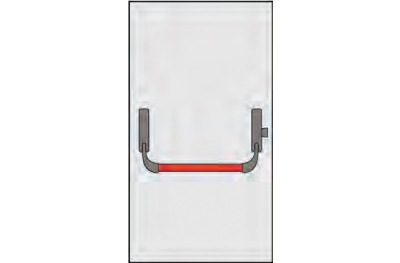 Handle Panic Omec Composition for single leaf doors lock a point