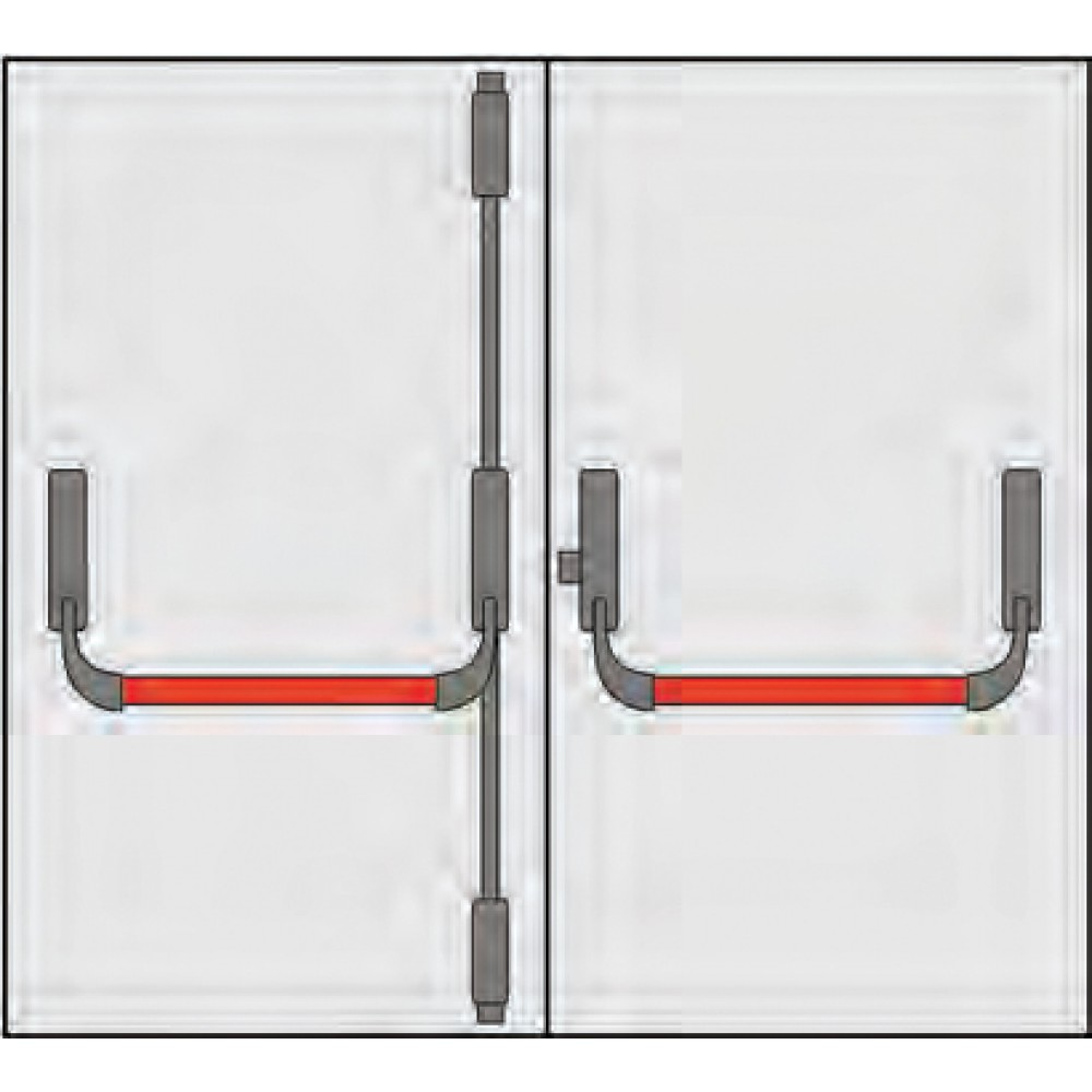 Composition Handle Panic Omec x Doors to two doors; Three Points Closing