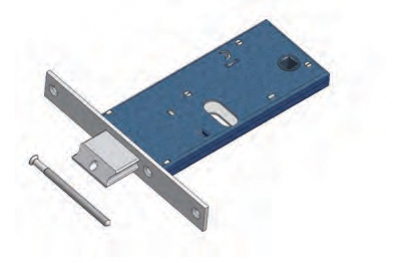 Adjustable latch Omec with Mandate Lock range for Mechanics Aluminium