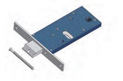 Adjustable latch Omec with Mandate Lock range for Mechanics Aluminium