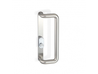 2CT.246.0035.44 Pull Handle with Security Shield and Cylinder Protection