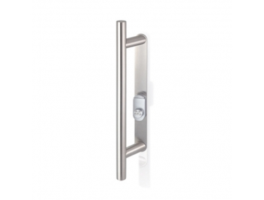 2CT.53I.35RL.44 Pull Handle with Security Shield and Cylinder Protection