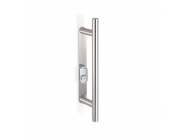 2CT.53I.035R.44 Pull Handle with Security Shield and Cylinder Protection