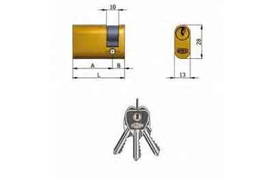 Half cylinder Omec Brass Oval 5 Pins 37mm L 27/10