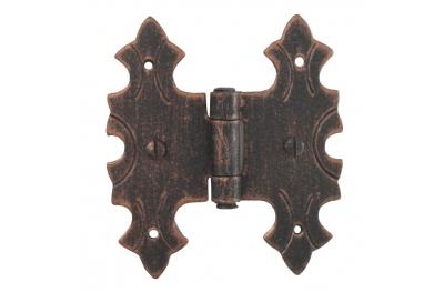 3071 Wrought Iron Double Hinge for Furniture Lorenz Ferart