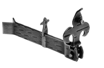 315 Shutter holder Giglio 170x30x18mm Zanca to Embed Galbusera Wrought Iron