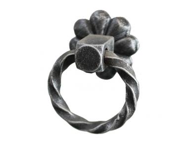 3210 Twist Ring Wrought Iron Furniture Handle Lorenz Ferart