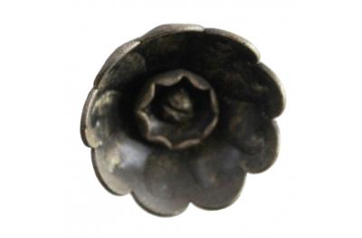 3218 Rose Flower Knob Wrought Iron Furniture Handle Lorenz Ferart