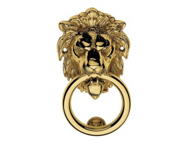 351 BA Lion Door Knocker Linea Calì with Animal Shape Made in Italy for Historical Palace