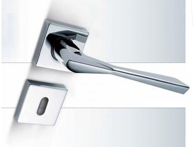 3D Sicma Smart Line Door Handle with Square Rosette and Escutcheon