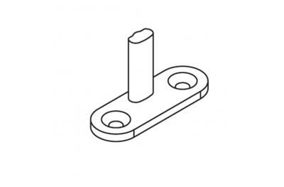 Closing plate OJ 40x14 pin H = 20mm Matt Black