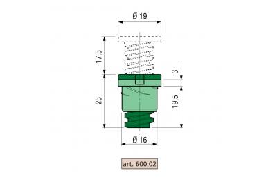 Spacer Proni Rapid-Block Z / P series 600 Body of Zama