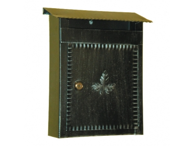 6001 Wrought Iron Handmade Mailbox Carrying Envelopes and Newspapers Lorenz