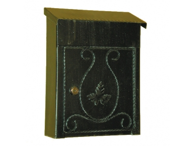 6007 Wrought Iron Handmade Mailbox Carrying Envelopes and Newspapers Lorenz