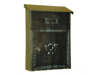 6010 Wrought Iron Handmade Mailbox Carrying Envelopes and Newspapers Lorenz