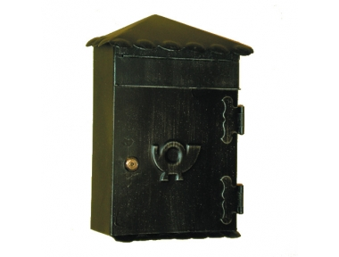 6011 Wrought Iron Roof Mailbox Carrying Envelopes and Newspapers Lorenz