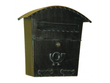 6015 Wrought Iron Curved Cover Mailbox Carrying Newspapers Lorenz Ferart