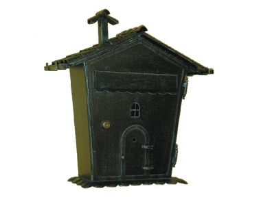 6017 Wrought Iron Home Shape Mailbox Carrying Newspapers Lorenz Ferart