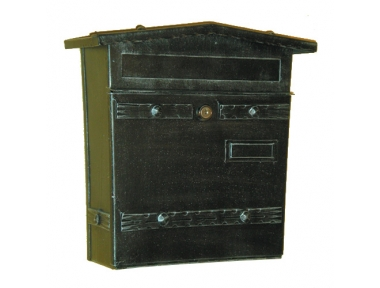 6023 Wrought Iron Handmade Mailbox Carrying Envelopes and Newspapers Lorenz