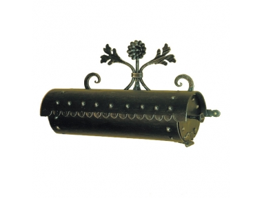 6024 Wrought Iron Cylindrical Mailbox Carrying Envelopes and Newspapers Lorenz