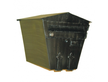 6025 Handcrafted Wrought Iron Postal Box Capacious Lorenz Ferart