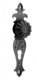 60/G Ø65 Turning Door Knob on Plate Artistic Wrought Iron