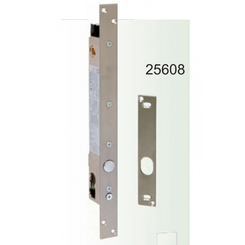 Solenoid Security Vertical Art.25608 Opera; With Quadro handle 8mm