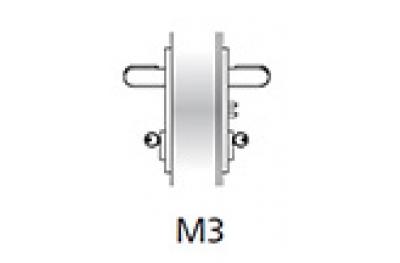 Handle Emergency Kit Ninz M3 Fire Door Plastic Black s = 60mm