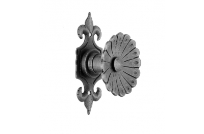 64 Door Knob Ø60 Diameter Artistic Wrought Iron