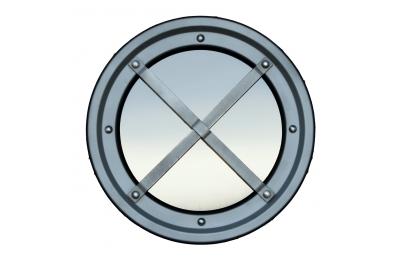 Metallic railing porthole stainless steel AISI 304 type C Raised