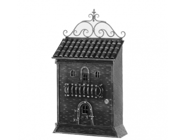 868 Galbusera Wall Mail Box Artistic Wrought Iron