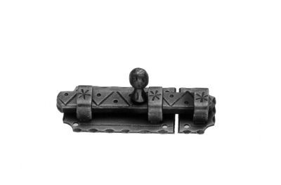 897 Galbusera Horizontal Bolt Artistic Wrought Iron 105x40x3mm