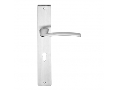 Ala Door Handle on Plate With Female Elegant Shapes Design by Linea Calì