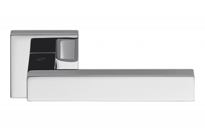 Ellesse Polished Chrome Door Handle on Rosette Studio Bartoli for Colombo Design