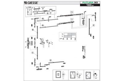 Anta Ribalta 3D Futura for Hammer Logic Configuration Base Giesse