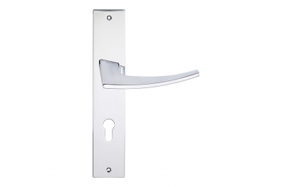 Antares Series Fashion forme Door Handle on Plate Frosio Bortolo Modern Design