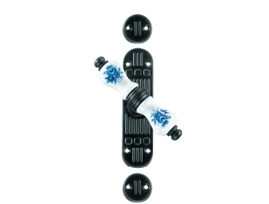 Athens Galbusera Cremone Bolt for External Rods Porcelain and Wrought Iron