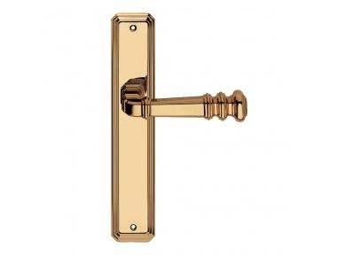 Atlas Series Vintage forme Door Handle on Plate Frosio Bortolo Squarish Design