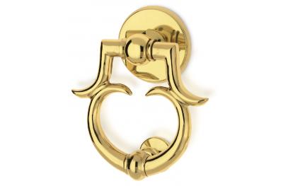 Barocco Ø130 Brass Knocker for Door PFS Pasini