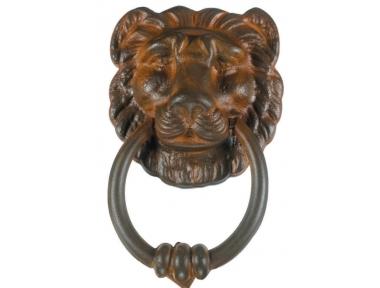 Lion Door Knocker 1 with Ring Galbusera Wrought Iron