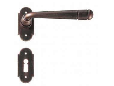 Bern 2 Galbusera Door Handle with Rosette and Escutcheon Plate