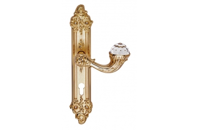 Brillant Crystal 1526 Door Handle on Plate Linea Calì Vintage