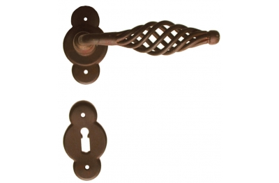 Budapest 2 Galbusera Door Handle with Rosette and Escutcheon Plate